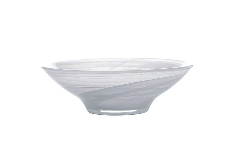 Maxwell & Williams 37cm Marblesque Serving Tableware Soup Salad Glass Bowl White