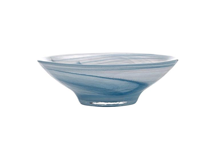 Maxwell & Williams 19cm Marblesque Serving Glass Tableware Soup Salad Bowl Blue