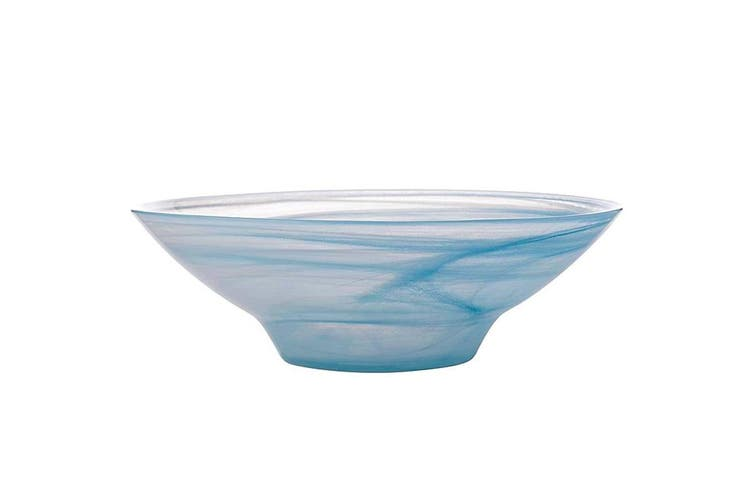 Maxwell & Williams 26cm Marblesque Serving Glass Tableware Soup Salad Bowl Blue