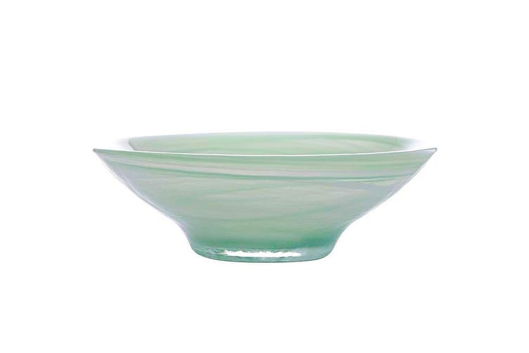 Maxwell & Williams 32cm Marblesque Serving Tableware Soup Salad Glass Bowl Mint