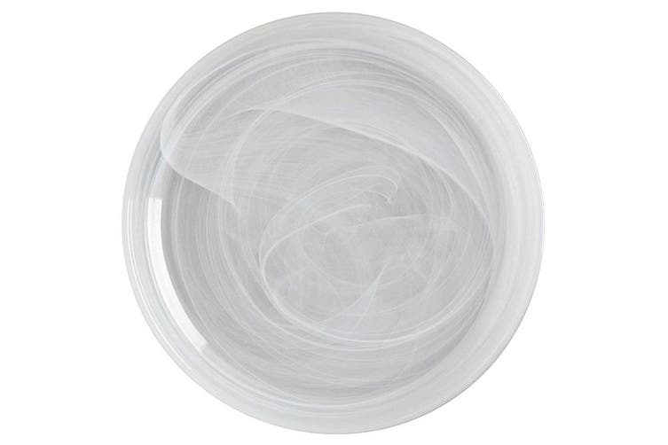 Maxwell & Williams 18.5cm Marblesque Dinner Serving Dish Plate Glass White
