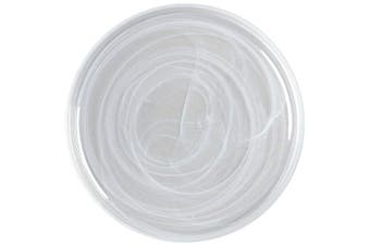 Maxwell & Williams 34cm Marblesque Dinner Serving Food Dish Plate Glass White