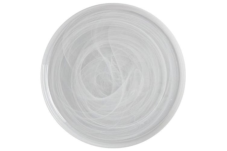 Maxwell & Williams 39cm Marblesque Dinner Serving Food Dish Plate Glass White