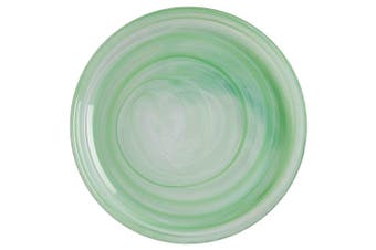 Maxwell & Williams 18.5cm Marblesque Dinner Serving Dish Plate Glass Mint