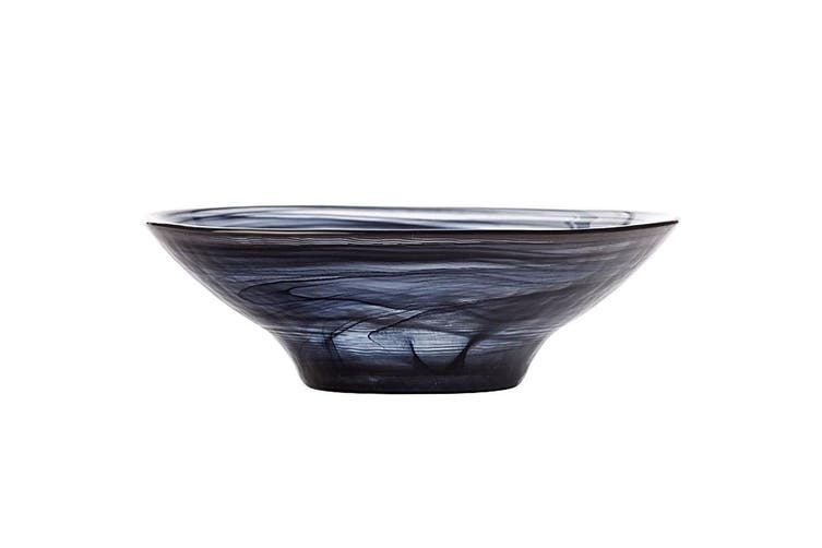 Maxwell & Williams 13cm Marblesque Serving Glass Dessert Sauce Snack Bowl Black