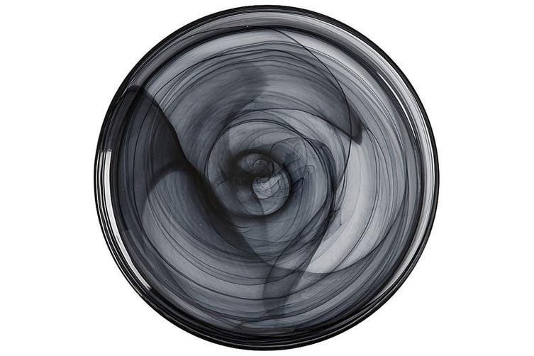 Maxwell & Williams 18.5cm Marblesque Dinner Serving Dish Plate Tableware Black