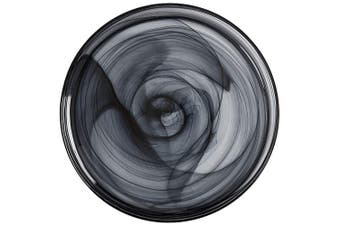 Maxwell & Williams 26cm Marblesque Dinner Serving Dish Plate Food Tableware BLK