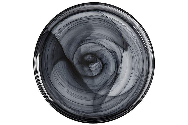 Maxwell & Williams 39cm Marblesque Dinner Serving Food Dish Plate Tableware BLK