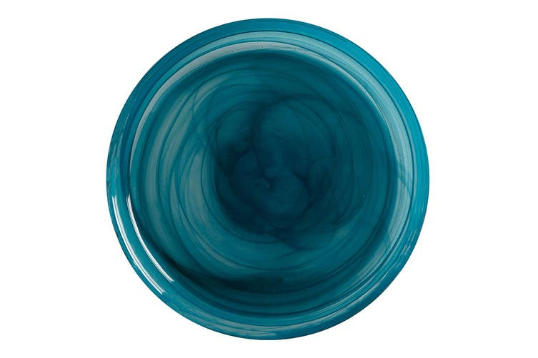 Maxwell & Williams 18.5cm Marblesque Dinner Serving Dish Dessert Side Plate Teal