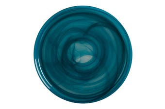 Maxwell & Williams 26cm Marblesque Glass Dinner Serving Plate Tableware Teal