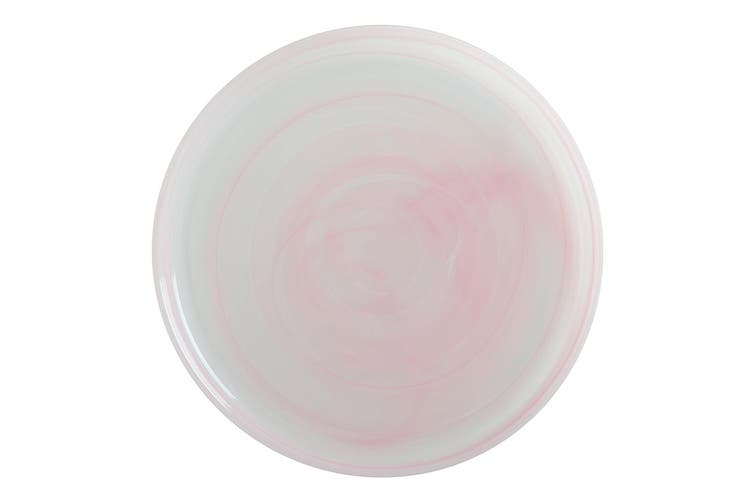Maxwell & Williams 26cm Marblesque Glass Dinner Serving Plate Tableware Pink