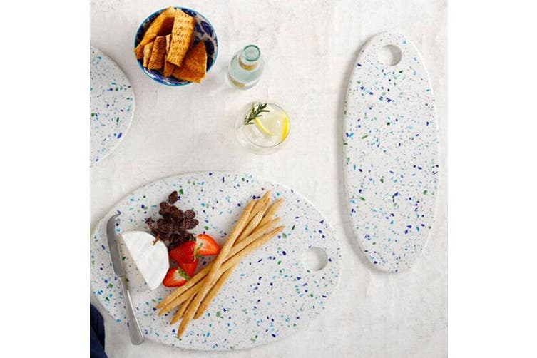 Maxwell & Williams Reef 40x15cm Oval Terrazo Serving Board Cheese Platter White