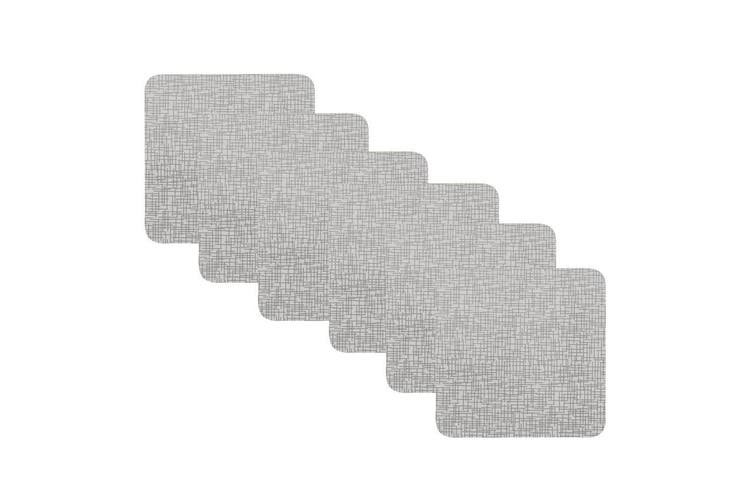 6pc Maxwell & Williams 10.5cm Flax Coasters for Hot Cold Drink Glass Mug Cup Set