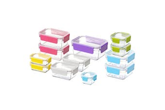 12pc Glasslock Premium Oven Safe Clear Glass Container Food Storage Set w  Lid