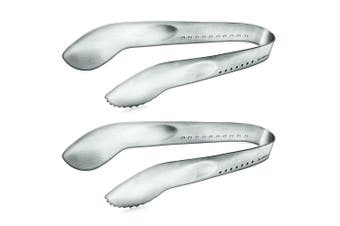 2pc Global 18cm Cookie Tongs Serving Spoon Stainless Steel Food Chef Kitchen BBQ