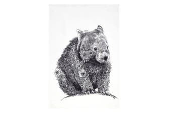 Maxwell & Williams 50cmx70cm Marini Ferlazzo Tea Towel Dish Cloth Wombat White