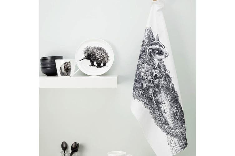 Maxwell & Williams 50cmx70cm Marini Ferlazzo Tea Towel Dish Cloth Echidna WHT