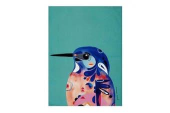 1pc Maxwell & Williams 50cm x 70cm Pete Cromer Cotton Tea Towel Azure Kingfisher