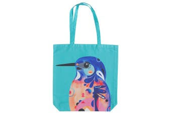 Maxwell & Williams Pete Cromer 42cm Cotton Reusable Shopping Tote Bag Kingfisher