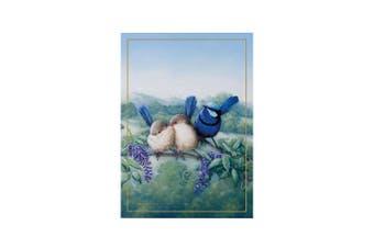 Maxwell & Williams Birds Of Australia Cotton Tea Towel Cloth Splendid Fairy Wren