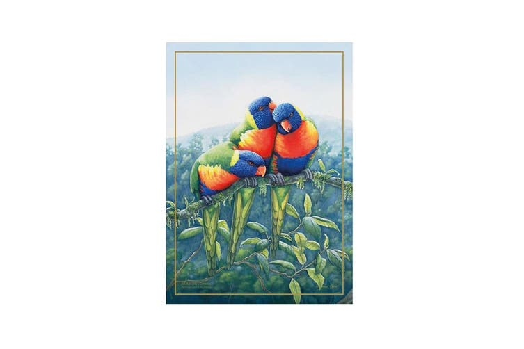 Maxwell & Williams Birds Of Australia Tea Towel Kitchen Cotton Cloth Lorikeet