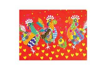 Maxwell & Williams Love Heart 50x70cm Cotton Kitchen Tea Towel Dish Cloth Chicke