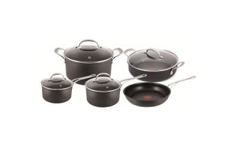 Tefal Jamie Oliver 5pc Set Non-stick Induction Hard Anodised Pot Pan Frypan