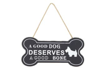 Emporium 22.5 x 30cm Dog Animal Bone Wall Decor Home Hanging Decoration Black