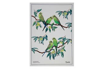 Maxwell & Williams Birdsong Kitchen Cleaning Dishcloth Cotton Tea Towel Budgie