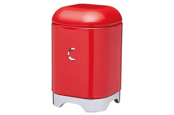 KitchenCraft Lovello 1.5L 18x11cm Coffee Canister Container Storage Tin Red