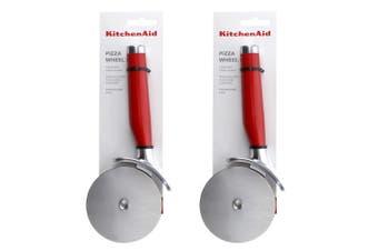 2x KitchenAid Classic 23x9cm Stainless Steel Pizza Wheel Kitchen Utensils Red