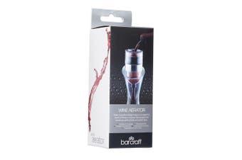 Barcraft 14.5cm Wine Aerator Plastic Aerating Pourer Oxygenator Flavour Enhancer
