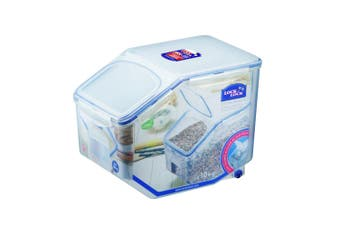 Lock & lock Plastic Rice Case 12L Container Storage Food Organiser w  Cup Clear