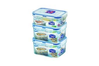 3PK Lock & Lock 350 470ml Plastic Food Snacks Storage Container Set Value Pack
