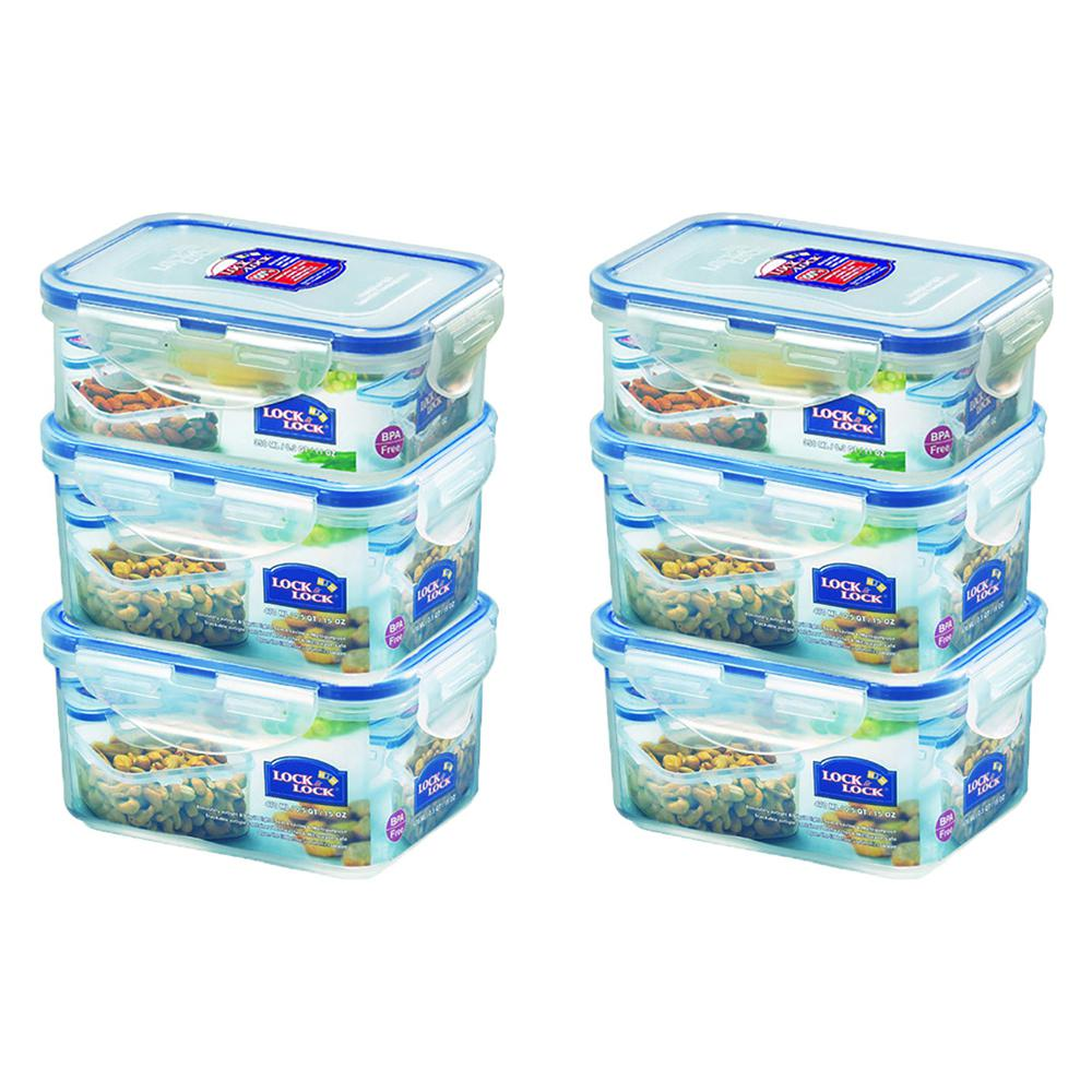 2PK Lock /& lock Plastic Rice Case 12L Container//Storage Organiser w// Cup Clear