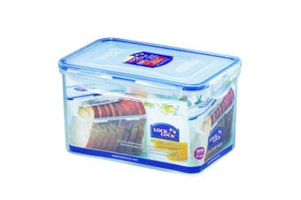 Lock & Lock 1.9L Rectangle Plastic Container Food Storage Ograniser w  Lid Clear