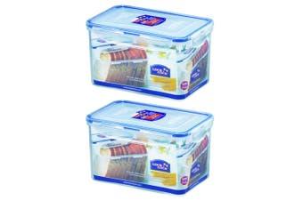 2PK Lock & Lock 1.9L Rectangle Plastic Container Food Storage Ograniser w  Lid