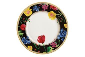 Maxwell & Williams Teas & C's Contessa 19.5cm Rim Food Dessert Serving Plate BLK