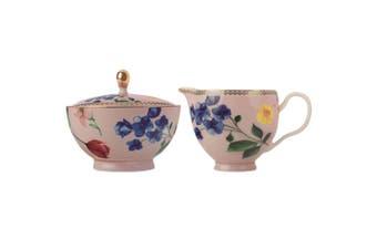 Maxwell & Williams Teas & C's Contessa Sugar Creamer Milk Jug Set f Coffee Rose