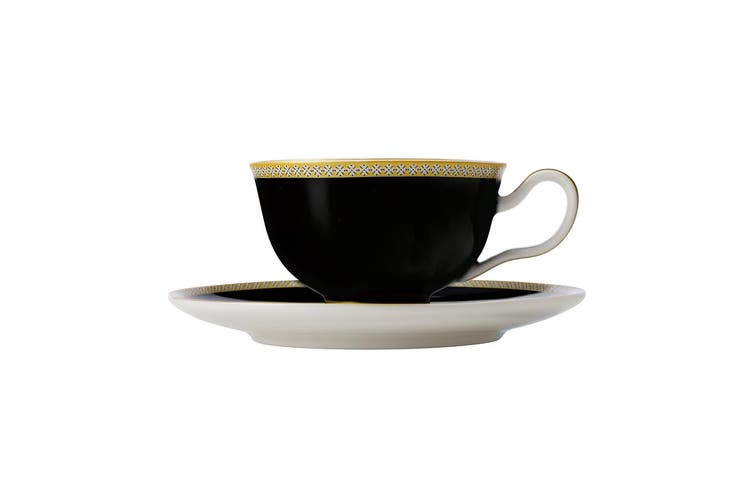 Maxwell & Williams Teas & C's Contessa 200ml Coffee Tea Cup & Saucer Set Black