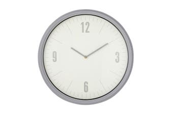 Emporium 50cm Sonny Wall Clock Home Office Wall Hanging Plastic Decor Grey White