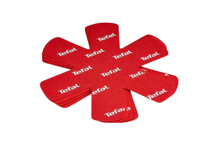 8PK Tefal Ingenio Protectors Surface Divider for Non-Stick Pot Pan Cookware Red