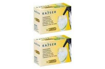 20pc Kayser Soda Syphon Siphon Chargers Carbon Dioxide CO2 Sparkling Water Bulbs