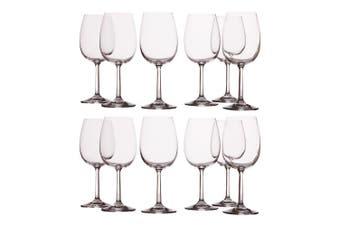 12pc Casa Domani 250ml Evolve White Wine Glass Glasses Bar Tableware Drinks Set