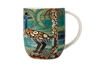 Maxwell & Williams Melanie Hava 440ml Porcelain Coffee Mug Cup Cassowaries Home