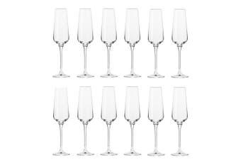 12pc Krosno Avant-Garde 180ml Champagne Sparkling Wine Flutes Barware Glass Set