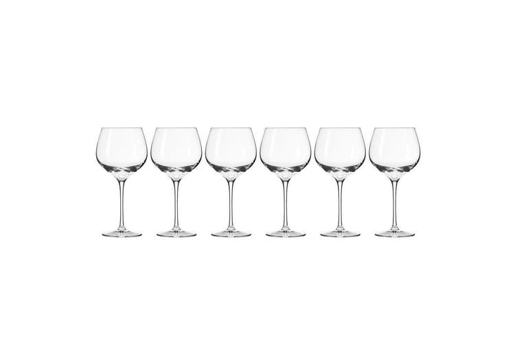 6pc Krosno Harmony Collection 570ml Red Wine Glass Barware Bar Drinking Glasses