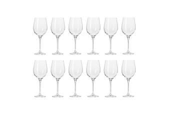 12pc Krosno Harmony Collection 370ml White Wine Glass Barware Drinking Glasses