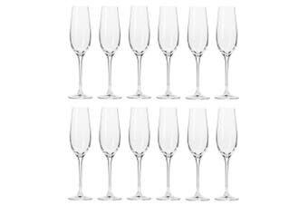 12pc Krosno 180ml Harmony Collection Champagne Flute Sparkling Wine Bar Glass