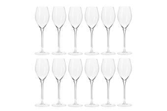 12pc Krosno Harmony Collection 280ml Prosecco Sparkling Wine Barware Bar Glasses